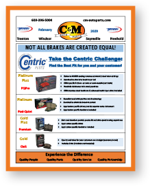 Our auto parts newsletter showcases new product lines, inventory stocking programs, specialized automotive mechanic tools, replacement parts and fleet stocking options. C&M Auto Parts warehouse also offers wholesale pricing on bulk automotive supplies, chemicals and accessories.